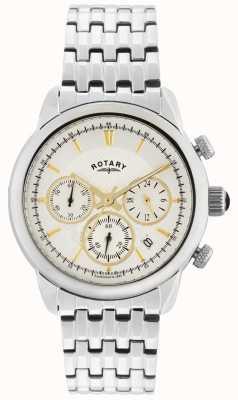 Rotary Gents argento quarzo analogico GB02876/02
