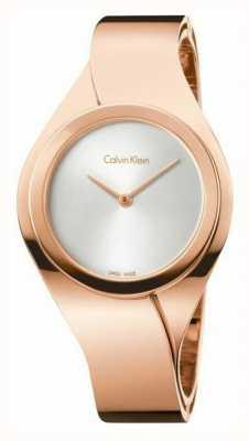 Calvin Klein Womens rosa orologio d'oro K5N2S626
