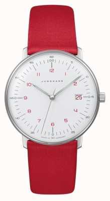 Junghans Max fattura signora | quarzo | cinturino rosso 047/4541.04