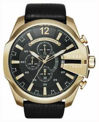 Diesel mega orologio cronografo oro tono capo da uomo DZ4344