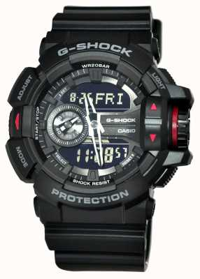 Casio Mens G-SHOCK orologio cronografo nero GA-400-1BER