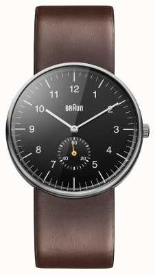 Braun Mens nero orologio marrone BN0024BKBRG