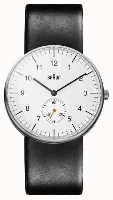Braun Mens bianco nero orologio BN0024WHBKG