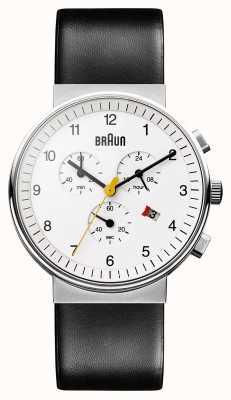 Braun Unisex classico orologio cronografo BN0035WHBKG