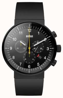 Braun Mens prestigio nero cronografo BN0095BKBKBKG