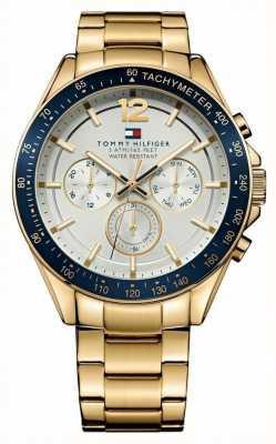 Tommy Hilfiger Mens luke orologio oro tono 1791121