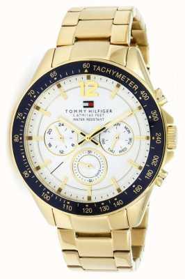 Tommy Hilfiger Orologio da uomo in oro luke | cinturino in metallo dorato | 1791121