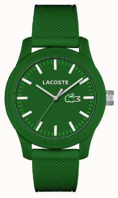 Lacoste Mens 12.12 cinturino in silicone verde quadrante verde 2010763