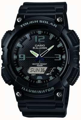 Casio Mens cinque allarme solare illuminatore nero alimentato AQ-S810W-1A2VEF