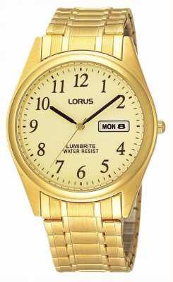 Lorus Placcato oro espansione braccialetto RXN98AX9