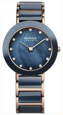 Bering Onorevoli ceramica blu rosa madre oro di perla 11429-767
