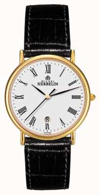 Michel Herbelin Gents citadines pelle strapwatch 12443/P01