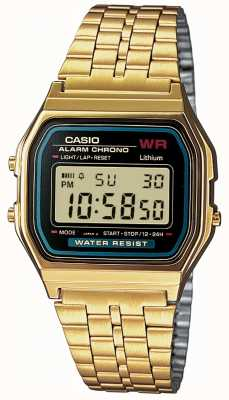 Casio Mens retro digitale placcato in oro A159WGEA-1EF