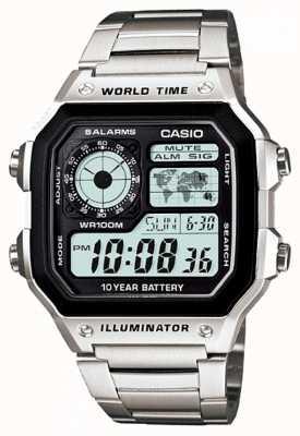 Casio digitale multifunzione al quarzo Timer mondo AE-1200WHD-1AVEF