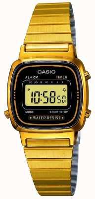 Casio Womens braccialetto digitale retrò placcato in oro LA670WEGA-1EF