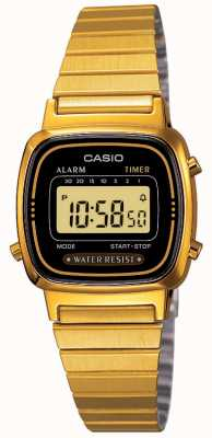Casio Womens braccialetto digitale retrò placcato in oro LA670WEGA-1EF