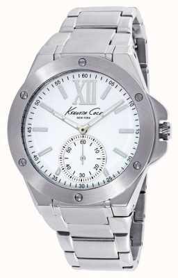 Kenneth Cole Donne in acciaio inossidabile quadrante bianco KC10020844