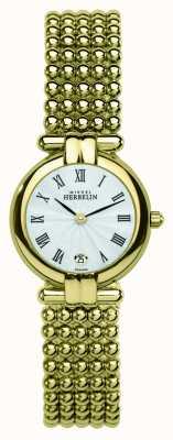 Michel Herbelin Onorevoli pvd oro placcato quadrante argentato 16873/BP08