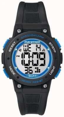 Timex Maratona digitale cinturino in gomma nera blu TW5K84800