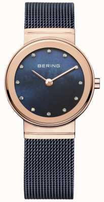 Bering Onorevoli maglia azzurra pvd cassa in oro rosa 10126-367