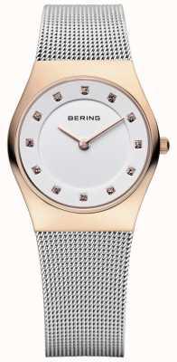 Bering Onorevoli acciaio maglia di acciaio pvd oro rosa 11927-064