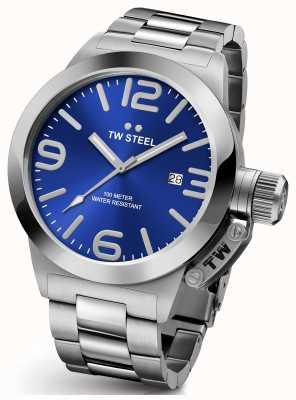 TW Steel Gents mensa 45 millimetri in acciaio inossidabile quadrante blu CB11