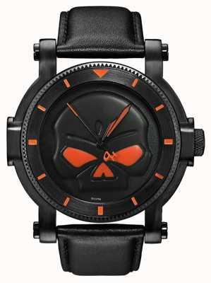 Harley Davidson Mens Watch g cranio Willie nero 78A114