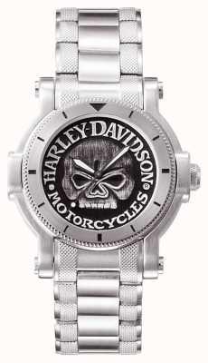 Harley Davidson Mens willie g orologio da polso cranio 76A11