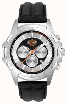 Harley Davidson Mens nero e argento spider web design 76B161