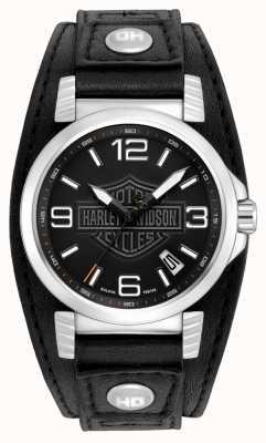 Harley Davidson Mens data orologio in acciaio inox 76B163