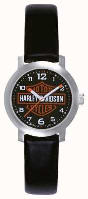 Harley Davidson Ladies Watch cinturino in pelle nera 76L10