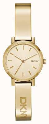 DKNY Pvd piatto d'oro quadrante rotondo signore soho NY2307