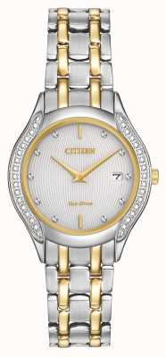 Citizen Donna Eco-Drive 30 diamante di due toni GA1064-56A