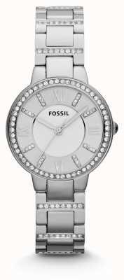 Fossil acciaio inox Womens Virginia ES3282