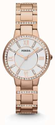 Fossil Womens Virginia PVD oro rosa placcato ES3284