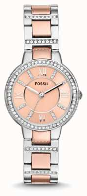 Fossil Womens Virginia due toni quadrante rosa ES3405