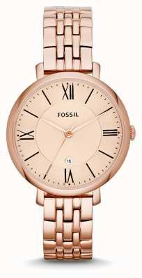 Fossil Onorevoli jacqueline placcato oro rosa pvd ES3435