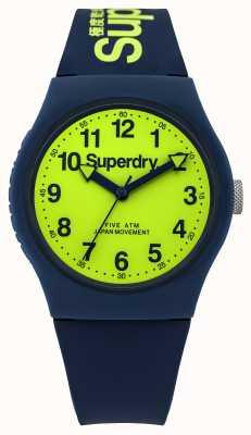 Superdry Cinturino in gomma blu urbano Gents linea verde SYG164UN