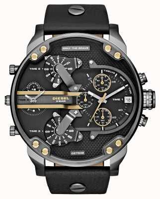 Diesel Mens mr papà cronografo 2.0 in pelle nera DZ7348