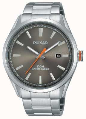 Pulsar Mens quadrante argentato in acciaio inox PS9381X1
