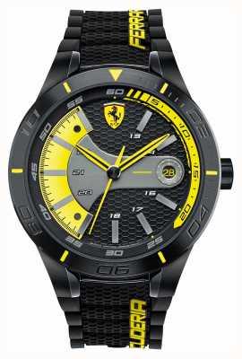 Scuderia Ferrari Red rev evo silicone nero quadrante giallo nero 0830266
