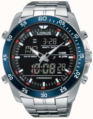 Lorus Uomo Acciaio doppio fuso orario RW623AX9