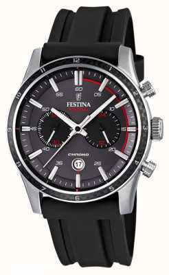 Festina Mens Tour of Britain 2015 cinturino in caucciù nero F16874/H