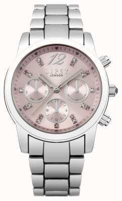 Lipsy Acciaio inossidabile delle donne quadrante braccialetto rosa LP390