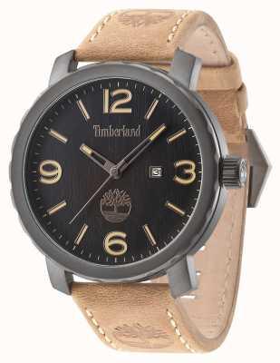 Timberland Mens Pinkerton cinturino in pelle marrone quadrante nero 14399XSU/02