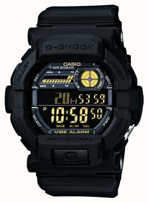 Casio G-shock vibrazione orologio 5 allarme giallo nero GD-350-1BER