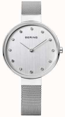 Bering Acciaio inossidabile delle donne quadrante argentato maglia 12034-000