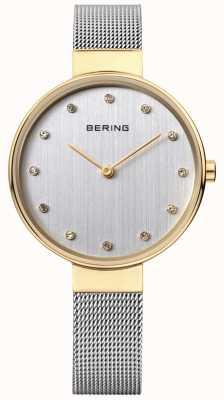 Bering Acciaio inossidabile delle donne quadrante argentato maglia 12034-010