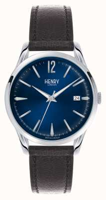 Henry London Quadrante blu di Knightsbridge - visto in tv HL39-S-0031