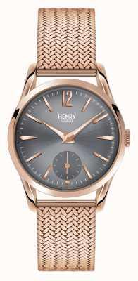 Henry London Finchley rosa oro maglia quadrante grigio HL30-UM-0116
